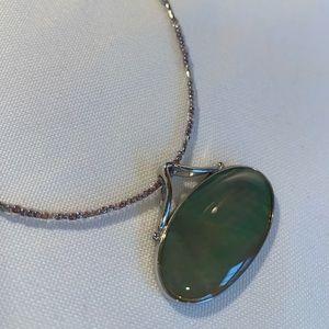 Lia Sophia Genuine Abalone Necklace